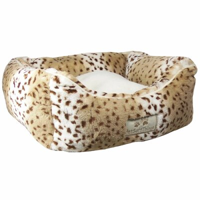 Animal Faux Fur Dog Bed with 2 Removable Pillow
