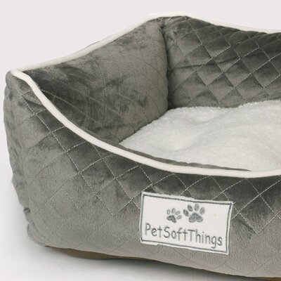 Microplush Quilted Dog Bed with Removable Pillow Color: Cloud Burst