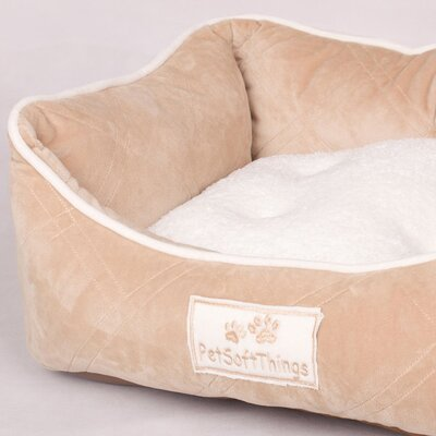 Super Soft Quilted Dog Bed with Removable Pillow Color: Taupe