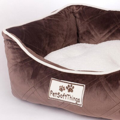 Super Soft Quilted Dog Bed with Removable Pillow Color: Chocolate