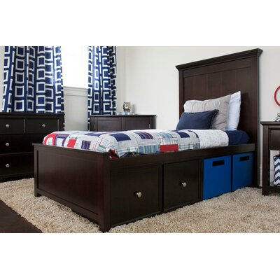 London Twin Panel Bed with Storage