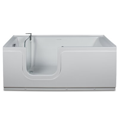 Aquarite 59 x 30 Step-In Soaking Bathtub Drain Location: Left