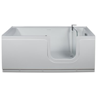 Aquarite 59 x 30 Step-In Soaking Bathtub Drain Location: Right