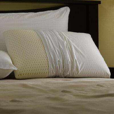 Restful Nights� Even Form Talalay Latex Cotton Pillow Size: Queen