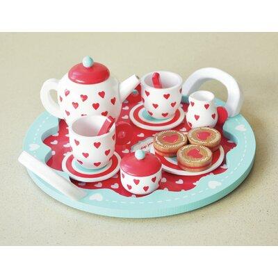 Hearts Wooden Tea Set Toy KIJ10055