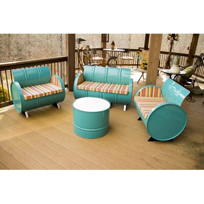 Outer Banks 4 Piece Seating Group with Cushions