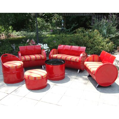 Excellent Bravada Salsa Sunbrella Sofa Set Cushions Product Photo