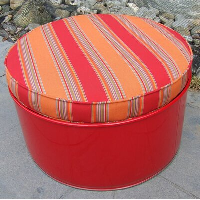 Bravada Salsa Ottoman with Cushion