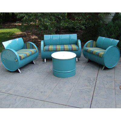 Astoria Lagoon Indoor/Outdoor Garden Patio 4 Piece Seating Group with Cushion