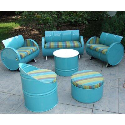 Astoria Lagoon Indoor/Outdoor Garden Patio 6 Piece Seating Group with Cushion