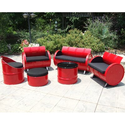 Loft Indoor/Outdoor 6 Piece Seating Group with Cushion