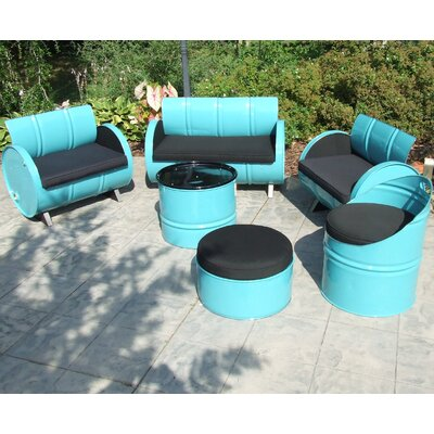 Tucson Indoor/Outdoor Garden Patio 6 Piece Seating Group with Cushion