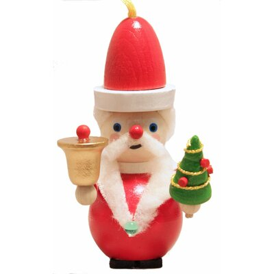 Steinbach Kris Kringle Santa Claus with Bell and Tree German Christmas Ornament
