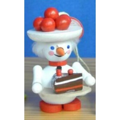 Steinbach Black Forest Snow Woman with Cake German Wooden Christmas Ornament