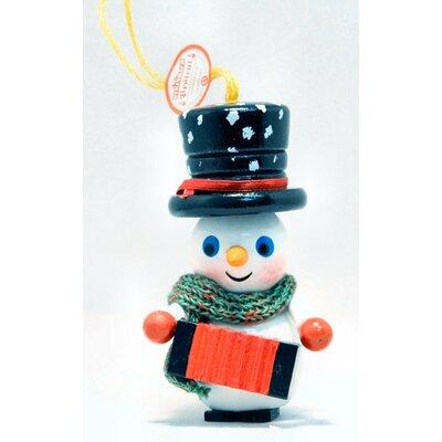 Steinbach Accordion Player Snowman German Wooden Christmas Ornament
