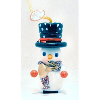 Steinbach Trumpet Player Snowman German Wooden Christmas Ornament