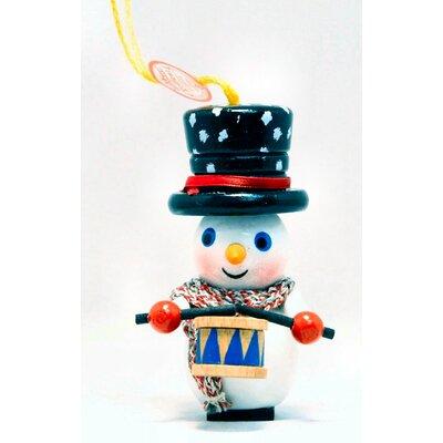 Steinbach Drumming Snowman German Wooden Christmas Ornament