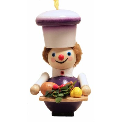 Steinbach Thanksgiving Cook with Food German Wooden Christmas Ornament