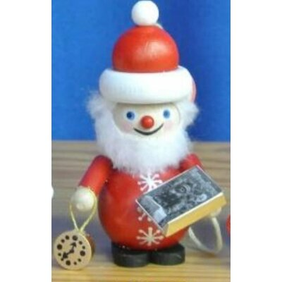 Steinbach Santa with The Night Before Christmas Book German Wooden Ornament