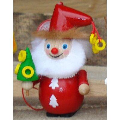 Steinbach Golden Ring Santa Wood Christmas Ornament