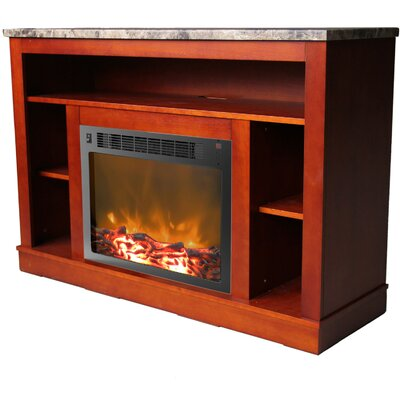 Seville 47 TV Stand with Fireplace Color: Cherry