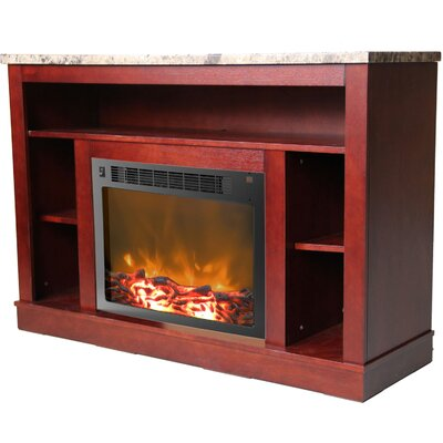 Seville 47 TV Stand with Fireplace Color: Mahogany