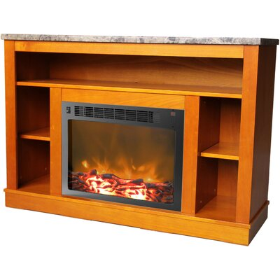 Ducharme 47 TV Stand with Fireplace Finish: Teak