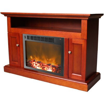Duchene 47 TV Stand with Fireplace Finish: Cherry