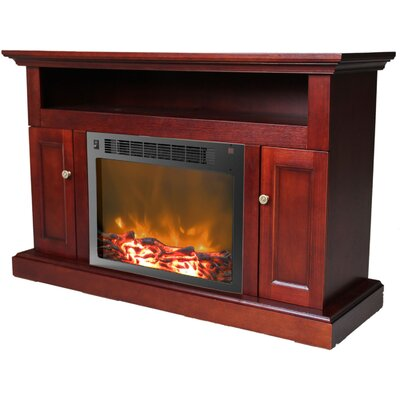 Duchene 47 TV Stand with Fireplace Finish: Mahogany