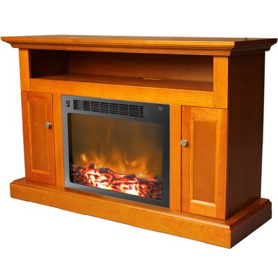 Sorrento 47 TV Stand with Fireplace Color: Teak