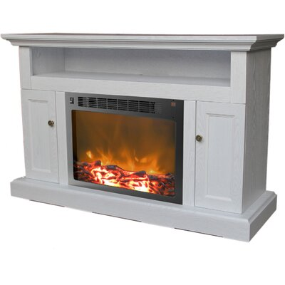 Duchene 47 TV Stand with Fireplace Finish: White