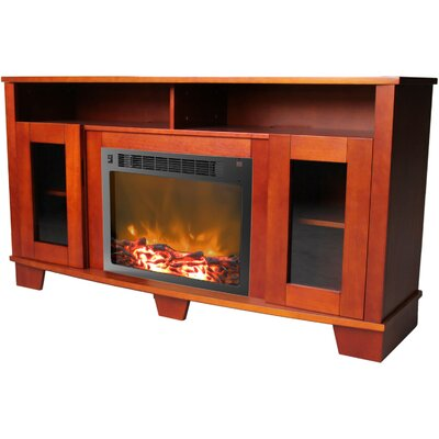 Savona 59 TV Stand with Fireplace Color: Cherry