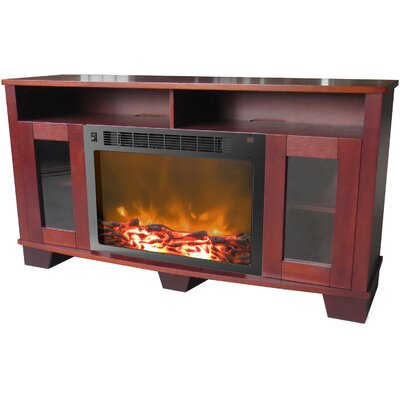 Duckworth 59 TV Stand with Fireplace Finish: Mahogany