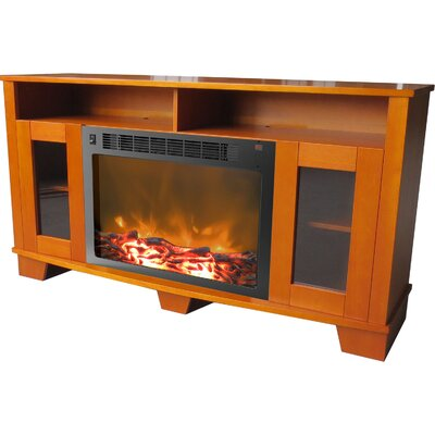 Duckworth 59 TV Stand with Fireplace Finish: Teak