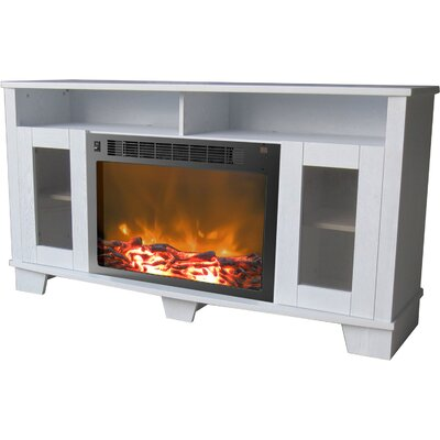 Savona 59 TV Stand with Fireplace Color: White