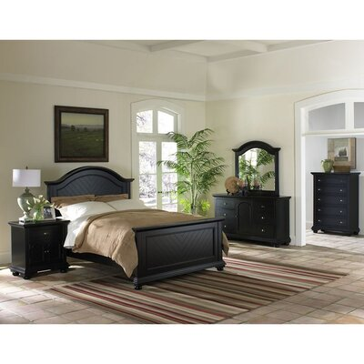 Hyde Park Platform 5 Piece Bedroom Set Bed Size: King, Color: Black Lacquer