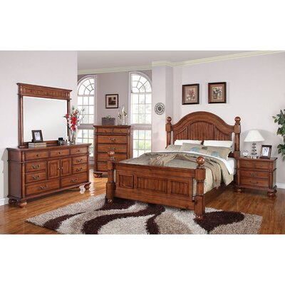 Raleigh Panel 5 Piece Bedroom Set Size: King