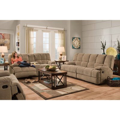 Dilorenzo 3 Piece Living Room Set Upholstery: Cocoa Brown