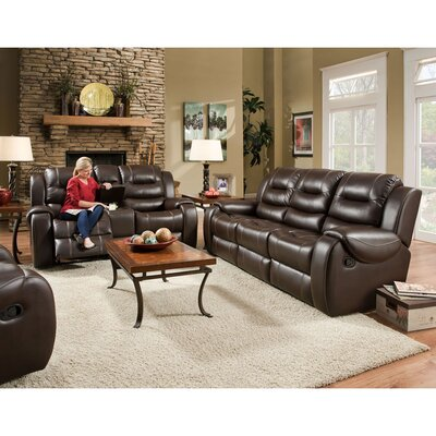 Clark 3 Piece Living Room Set Upholstery: Umber