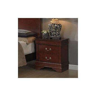 Sahil 2 Drawer Nightstand Color: Cherry