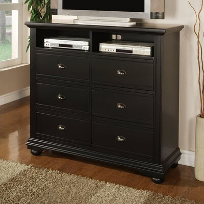 Hyde Park 6 Drawer Media Chest
