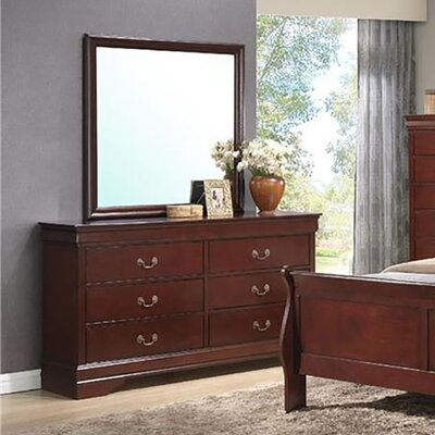 Piedmont 6 Drawer Dresser with Mirror