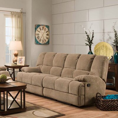 Dilorenzo Double Reclining Sofa Upholstery: Cocoa Brown