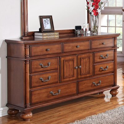 Raleigh 9 Drawer Combo Dresser