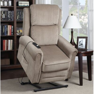 Dahms Power Lift Assist Recliner Upholstery: Tan
