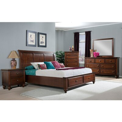 Whitcomb Panel 5 Piece Bedroom Set Size: Queen