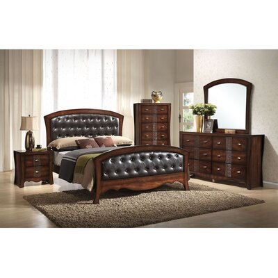 Pulido Panel 5 Piece Bedroom Set Size: King
