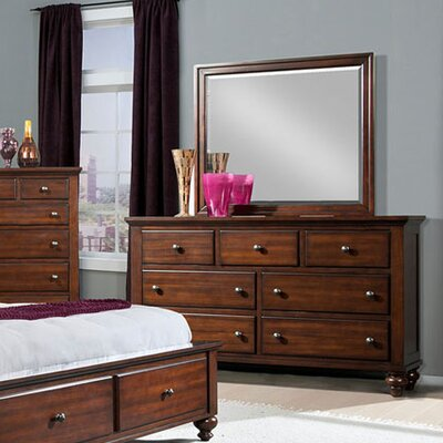 Newport 7 Drawer Double Dresser with Mirror