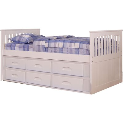 Hillcrest Twin-Size Bed Frame with Built-in Storage and Slide-out Trundle