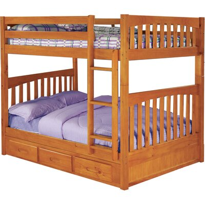 Parkview Full-over-Full with Twin Slide-out Trundle Finish: Honey